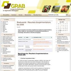 Biodiversité fonctionnelle maraichage arboriculture viticulture biologiques experimentation GRAB