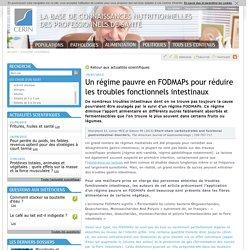 Un régime pauvre en FODMAPs (site industrie laitière)