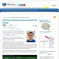 Matt Cutts explique le fonctionnement de Google