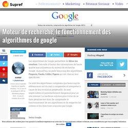 Moteur de recherche, fonctionnement des algorithmes google