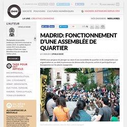 Madrid: fonctionnement d'une assemblée de quartier