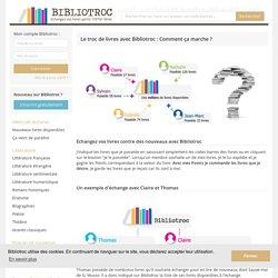 Le fonctionnement du troc de livres avec Bibliotroc