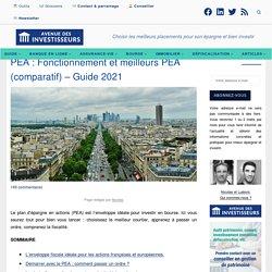 Fonctionnement et choix du meilleur PEA - Guide 2020