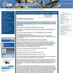 Principe de fonctionnement du compensateur d'onde [Nature'l Distribution - Produits naturels]