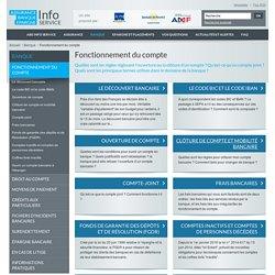Fonctionnement du compte - ABE Info Service