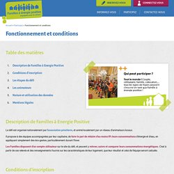 Fonctionnement et conditions