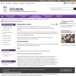 Fonctionnement des écoles - Coopérative scolaire