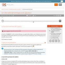 Le fonctionnement de $.ajax() - Un site web dynamique avec jQuery !
