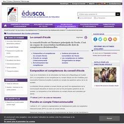 Fonctionnement des écoles - Le conseil d'école