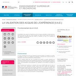 Enseignementsup-recherche.gouv.fr > VAE