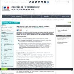 Description du fonctionnement de l'énergie nucléaire - Ministère de l'Environnement, de l'Energie et de la Mer