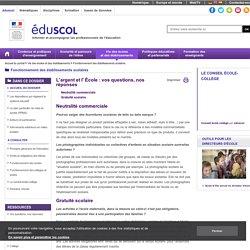 Fonctionnement des établissements scolaires - L'argent et l' École