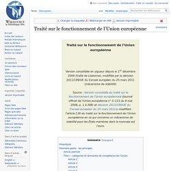 Traité sur le fonctionnement de l'Union européenne
