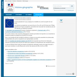 Le fonctionnement des élections européennes-Histoire-géographie-Éduscol