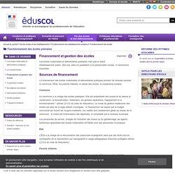 Fonctionnement des écoles - Financement et gestion des écoles