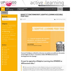 Budget et fonctionnement, l'Adaptive Learning accessible pour tous ? - Le blog e-learning, gamification & pédagogie active