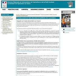 DRAAF OCCITANIE 02/03/17 Fonctionnement de l'aide alimentaire et habilitation des associations