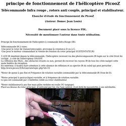 Principe de fonctionnement de l'hélicoptère à commande IR PicooZ