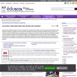 Événements et concours - Journée internationale des droits de l'enfant - Éduscol