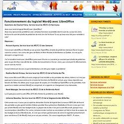Fonctionnement du logiciel WordQ avec LibreOffice