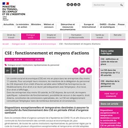 CSE : fonctionnement et moyens d'actions