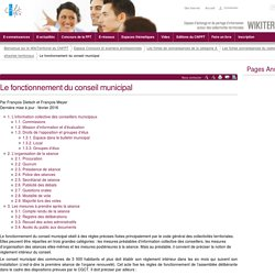 Le fonctionnement du conseil municipal (vitrine.Le fonctionnement du conseil municipal) - CNFPT