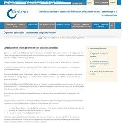 Organismes de formation, fonctionnement, obligations, contrôles