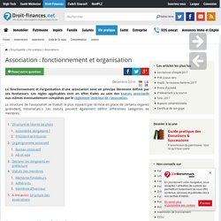 Association : fonctionnement et organisation