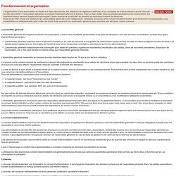 Fonctionnement et organisation d'une association
