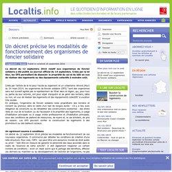 Un décret précise les modalités de fonctionnement des organismes de foncier solidaire