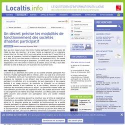 Un décret précise les modalités de fonctionnement des sociétés d'habitat participatif