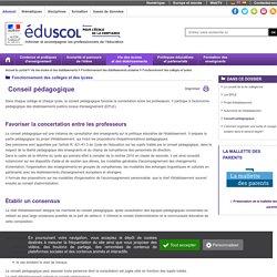 Conseil pédagogique
