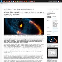 ALMA dévoile le fonctionnement d'un système planétaire proche