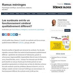 * Franck Ramus - Les surdoués ont-ils un fonctionnement cérébral qualitativement différent?