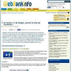 Bouton +1 de Google : fonctionnement et impact sur le référencement