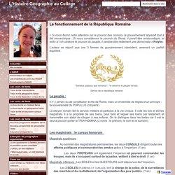 Le fonctionnement de la République Romaine - L'Histoire-Géographie au Collège