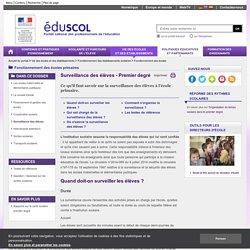 Fonctionnement des écoles - Surveillance des élèves