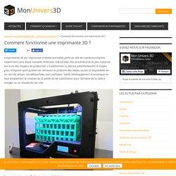 Fonctionnement d'une imprimante 3D