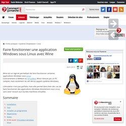 Faire fonctionner une application Windows sous Linux avec Wine