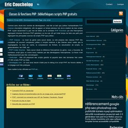 Classes & fonctions PHP : bibliothèques scripts PHP gratuits