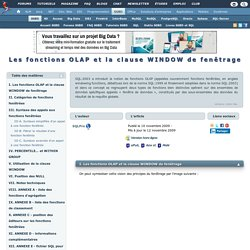 Les fonctions OLAP et la clause WINDOW de fenêtrage