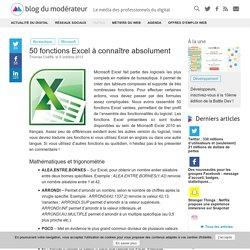 50 fonctions Excel à connaître absolument