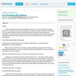 Les Fonctions Des Bijoux - Dissertations Gratuits - kekil