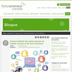 Portrait détaillé des plates-formes de médias sociaux et de leurs fonctions « Futurpreneur Canada Blog