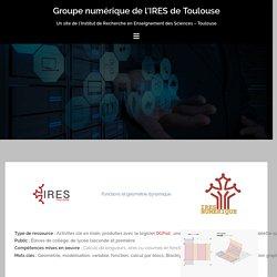 Fonctions et géométrie dynamique – Groupe numérique de l'IRES de Toulouse