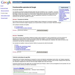 Fonctions Google