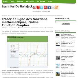 Tracer en ligne des fonctions mathématiques, Online Function Grapher