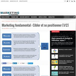 Marketing fondamental : Cibler et se positionner [1/2]