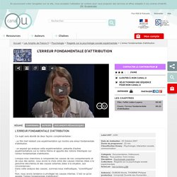 L'erreur fondamentale d'attribution - Les Amphis de France 5