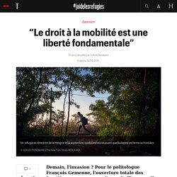 """""""Le droit à la mobilité est une liberté fondamentale"""" - #jaidelesrefugies"""